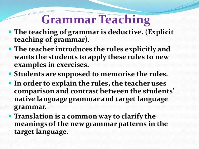 grammar translation method 2 essay The grammar-translation method the grammar-translation method of foreign language teaching is one of the most traditional methods, dating back to the late nineteenth and early twentieth.