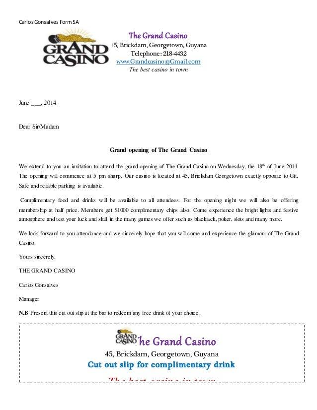 The grand casino circular letter the grand casino circular letter carlosgonsalvesform5a the grand casino 45 brickdam georgetown guyana telephone 218 4432 altavistaventures Choice Image