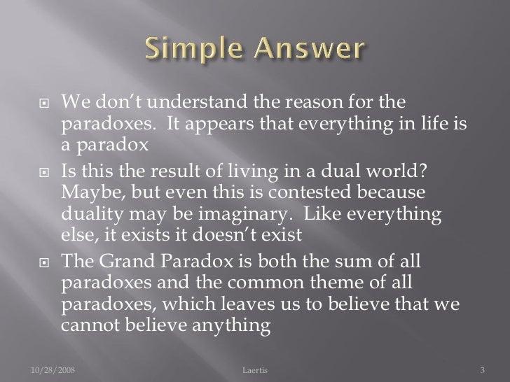 Examples of Paradox