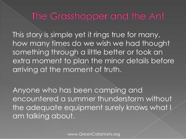the ant and the grasshopper story summary
