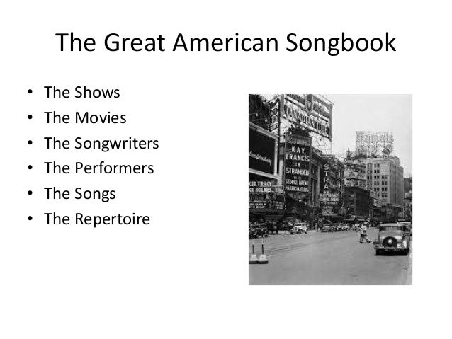The Great American Songbook Pdf