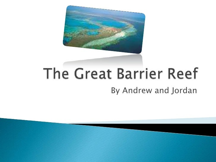 The Great Barrier Reef<br />By Andrew and Jordan<br />