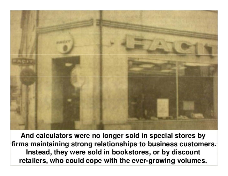 The early 1970s are therefore often referred to as 'The Great  Calculator War' where entrants flooded the market with     ...
