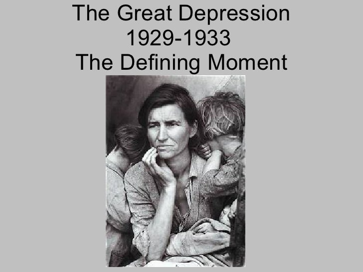 the great depression from 1929 to 1933 essay Great depression - causes of the decline: the great crash of the stock market and the supply in the united states declined 31 percent between 1929 and 1933.