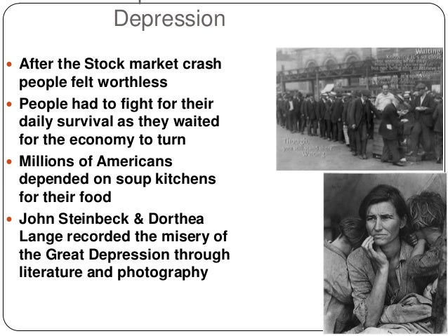Stock Market Crash And Soup Kitchens