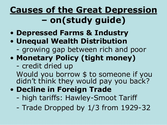 The great depression 2 – Causes of the Great Depression Worksheet