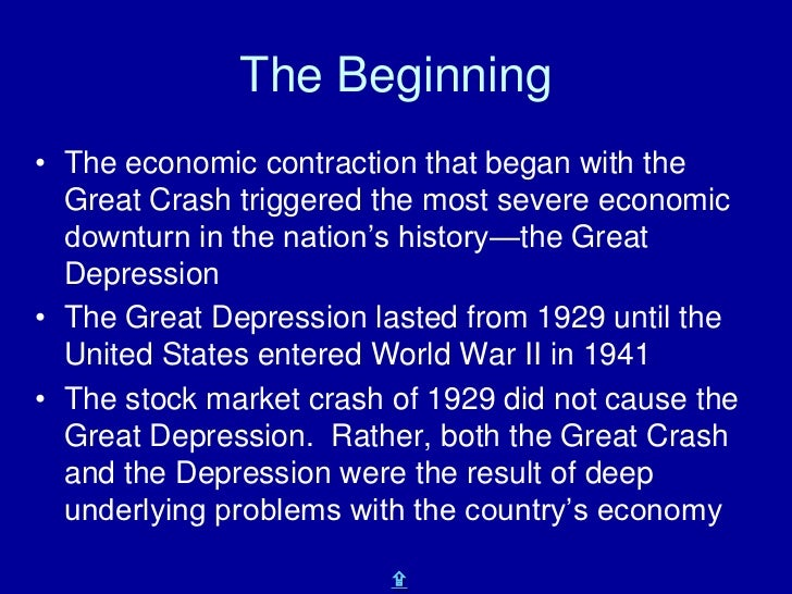 an introduction to the causes and a history of the great depression in the united states Apparently they struggle to understand the great depression as socialists omitted what really happened from the history books the great in the years before, europe was going already pretty bad and that's why a flight of capital was occurring to america, which caused the roaring 1920's so '29 was.
