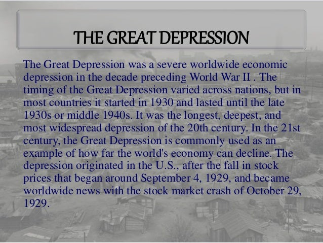great depression conclusion The great depression had important consequences both for the us economy and the global economy as a whole in the us, the consequences were the following: a large number of banks closed, there was deflation and real estate prices collapsed, the industrial production reduced by 2 times, the harvest of cereals fell by 2 times, many.