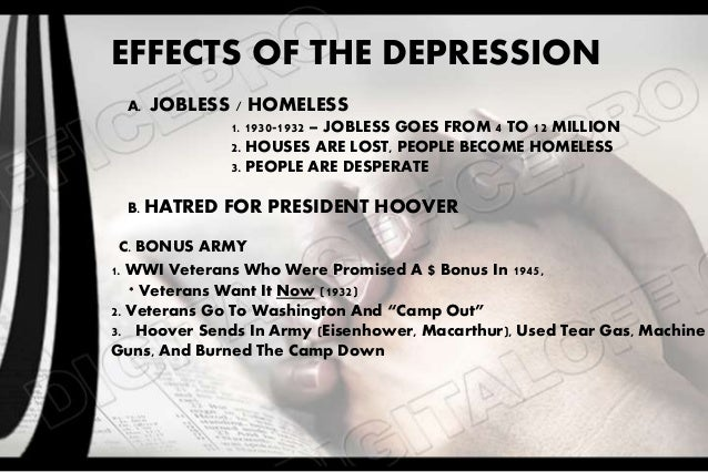 economic effects of the great depression