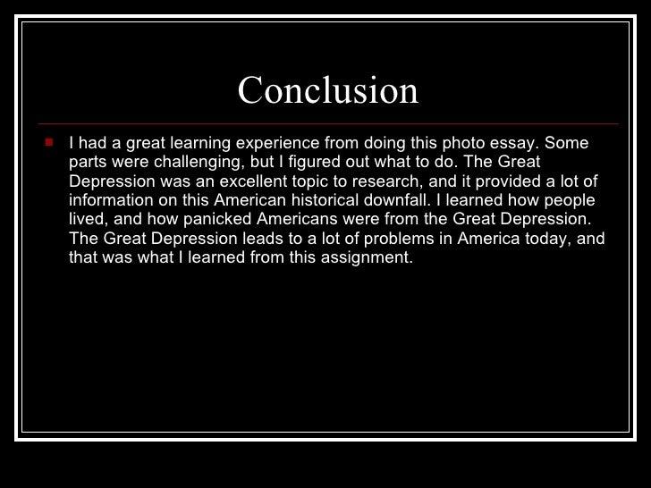 The Great Depression Essay