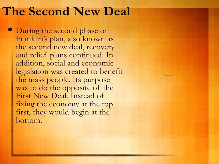 first and second new deal