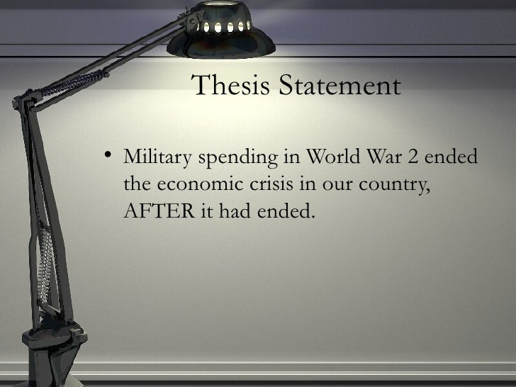 Economic crisis thesis statement