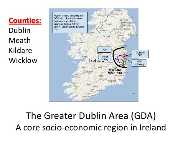 Sketch Map Of Ireland.The Greater Dublin Area Gda Region