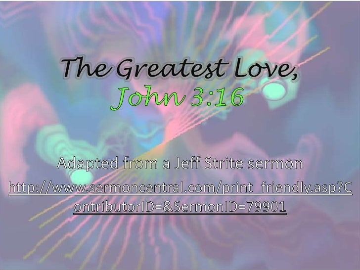 The Greatest Love,