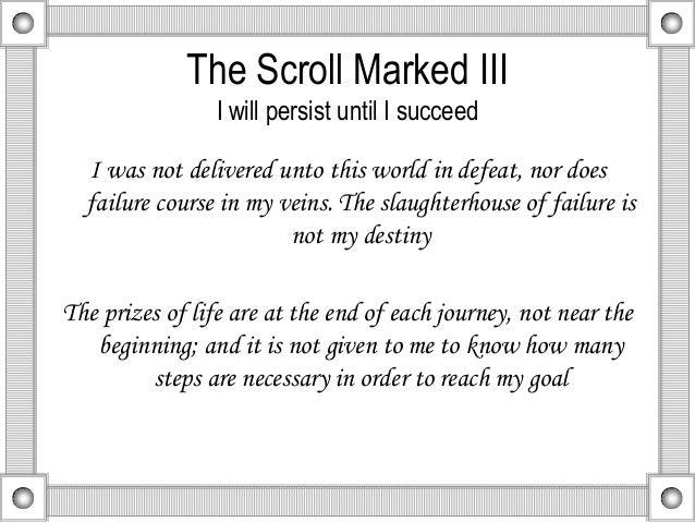 og mandino 10 scrolls