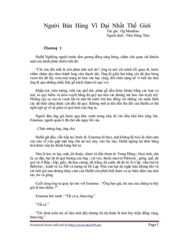 Download ebook miễn phí tại http://www.share99.net Page 1 Người Bán Hàng Vĩ Đại Nhất Thế Giới Tác giả : Og Mandino Người d...
