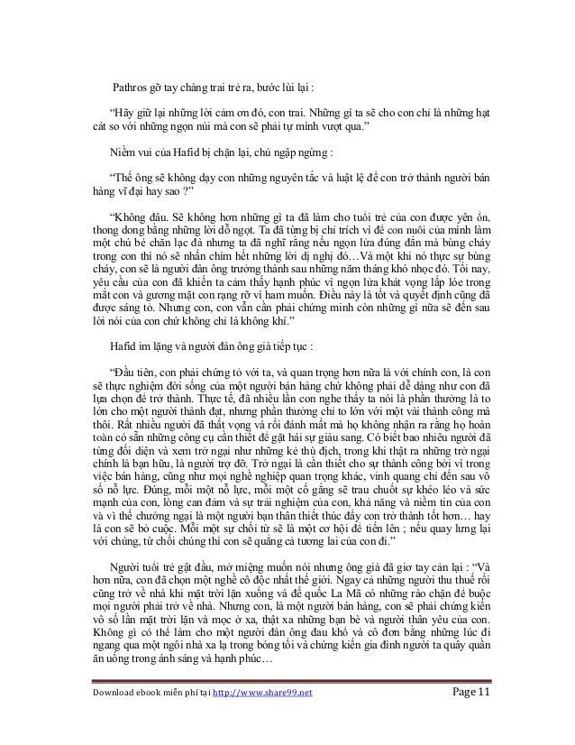 """Download ebook miễn phí tại http://www.share99.net Page 11 Pathros gỡ tay chàng trai trẻ ra, bước lùi lại : """"Hãy giữ lại n..."""