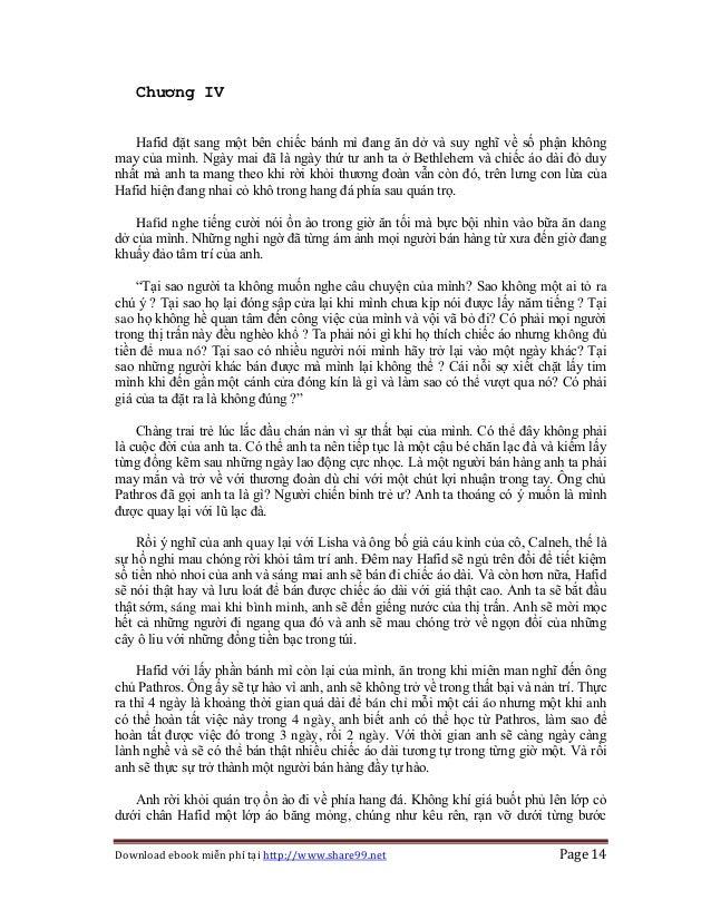 Download ebook miễn phí tại http://www.share99.net Page 14 Chương IV Hafid đặt sang một bên chiếc bánh mì đang ăn dở và su...