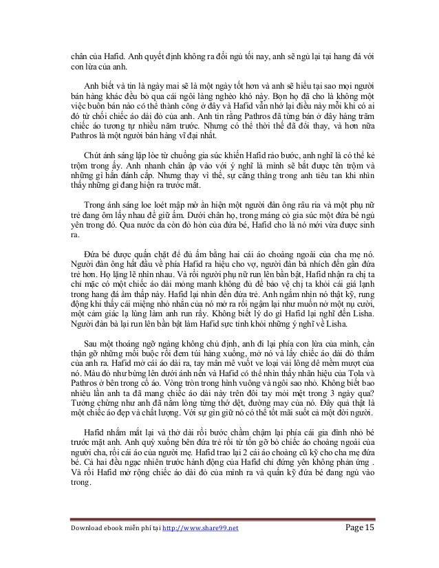 Download ebook miễn phí tại http://www.share99.net Page 15 chân của Hafid. Anh quyết định không ra đồi ngủ tối nay, anh sẽ...