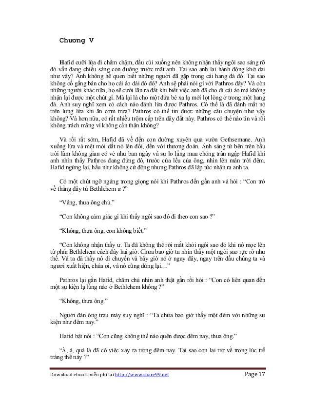 Download ebook miễn phí tại http://www.share99.net Page 17 Chương V Hafid cưỡi lừa đi chầm chậm, đầu cúi xuống nên không n...