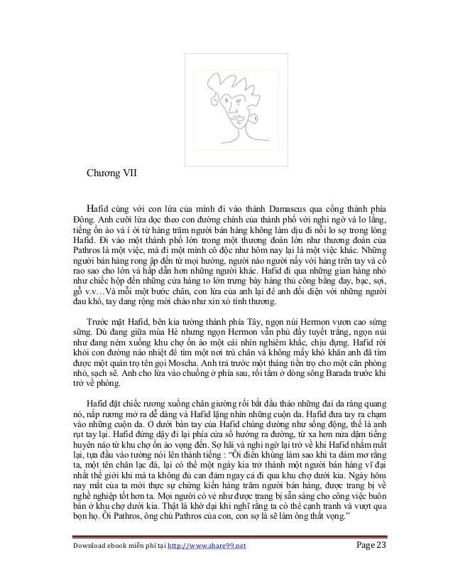 Download ebook miễn phí tại http://www.share99.net Page 23 Chương VII Hafid cùng với con lừa của mình đi vào thành Damascu...