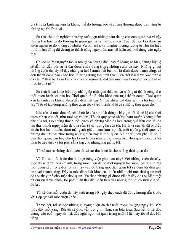 Download ebook miễn phí tại http://www.share99.net Page 26 giá trị của kinh nghiệm là không thể đo lường, bởi vì chúng thư...