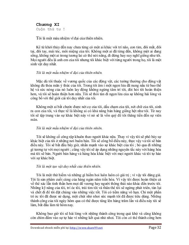 Download ebook miễn phí tại http://www.share99.net Page 32 Chương XI Cuộn thứ tư ! Tôi là một màu nhiệm vĩ đại của thiên n...