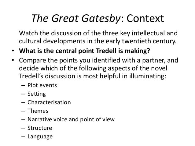 the great gatsby compared to the In this lesson we will compare and contrast two classic american novels: the great gatsby and the grapes of wrath we will identify the central.