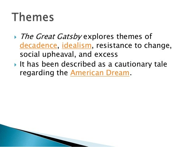 moral degradation in the great gatsby A summary of themes in f scott fitzgerald's the great gatsby learn exactly what happened in this chapter, scene, or section of the great gatsby and what it means perfect for acing essays.