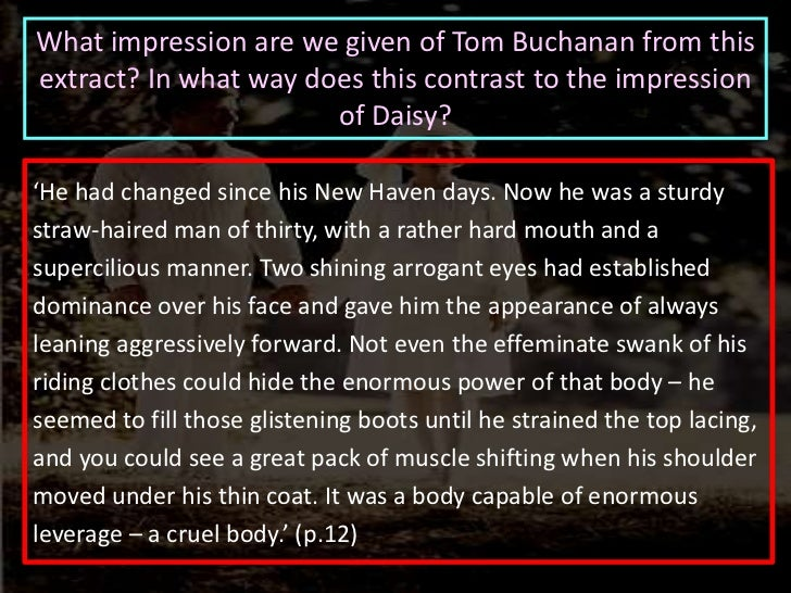 tom buchanan characteristics