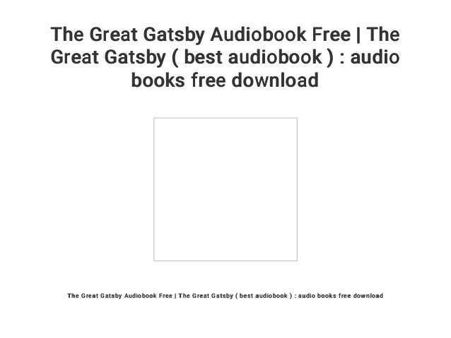 Free audiobook download: the great gatsby my frugal adventures.