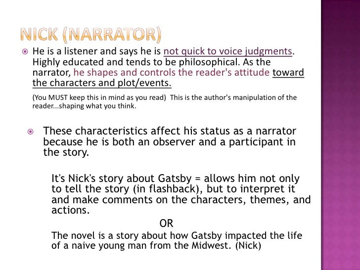 the great gatsby chapter 1 The great gatsby chapter 1 1 the great gatsby chapter 1 2 setting the novel is set in new york in the 1920's, at nick carraway's bungalow and.