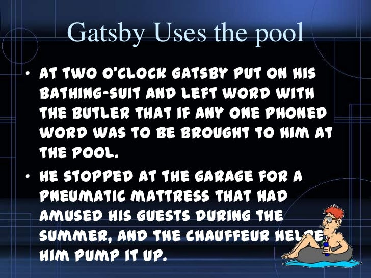 The great gatsby chapters 6 9
