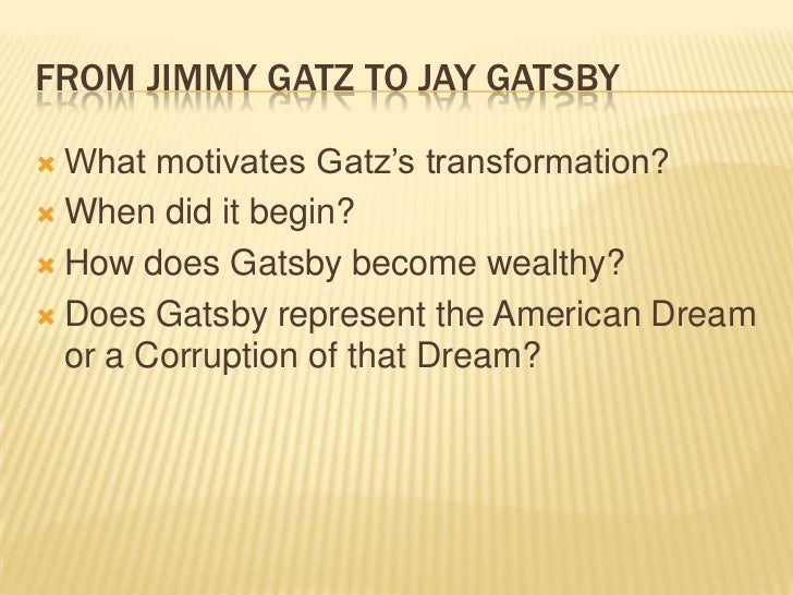 the great gatsby and the corrupt When nick carraway, narrator of the great gatsby, recognizes that  it is not  gatsby who is to blame but his adherence to a corrupt dream,.