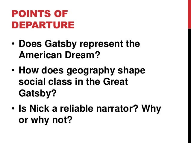 Group Questions on The Great Gatsby (Spring 2013)