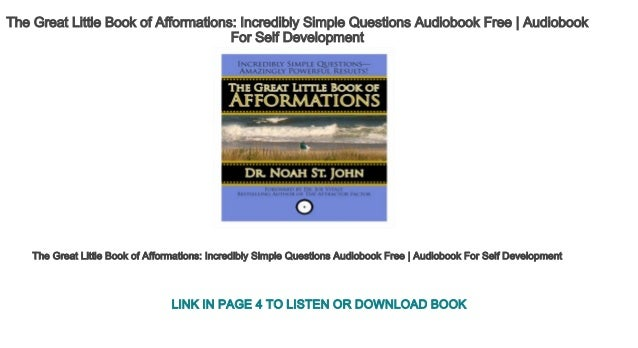 The great little book of afformations audiobook free | health & welln….