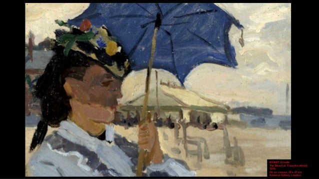 MONET, Claude Camille on the Beach at Trouville 1870 Oil on canvas, 38.1 x 46.4 cm Yale University Art Gallery