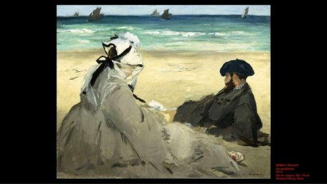 MANET, Edouard On the Beach (detail) 1873 Oil on canvas, 60 x 74 cm Musée d'Orsay, Paris
