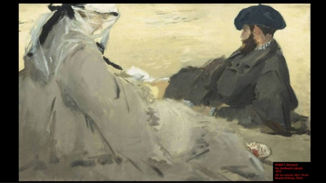 BOUDIN, Eugène On the Beach, Trouville 1887 Oil on wood , 18.4 x 32.7 cm National Gallery of Art, Washington