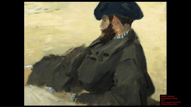 DEGAS, Edgar At the Beach 1876 Thinned oil on paper on canvas, 46 x 81 cm National Gallery, London