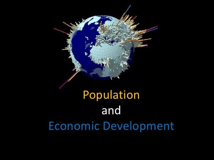 Populationand Economic Development <br />