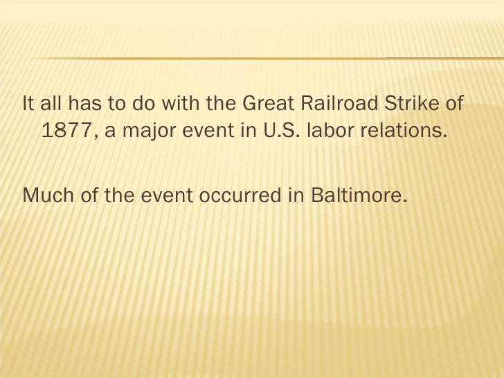 great railroad strike essay Writing assessment rubric – essay on the causes and consequences of the great railroad strike of 1877 excellent good fair needs work content/focus writing shows a well.