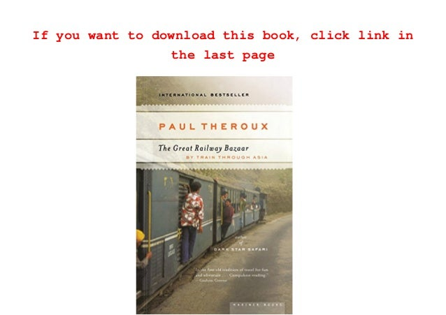 The Great Railway Bazaar [PDF]