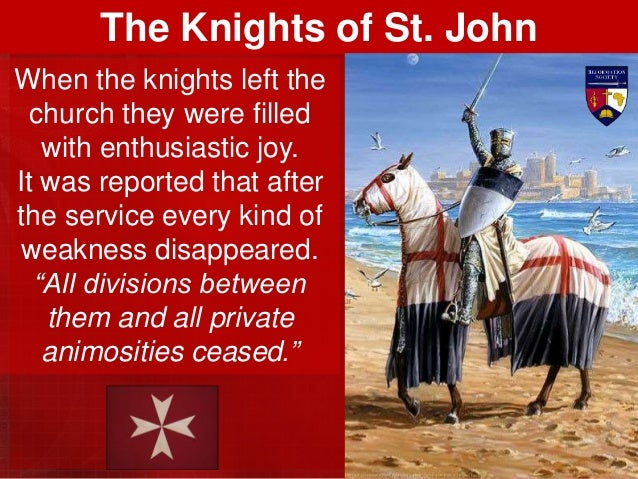 The knights became recognised as the very frontline of the battle for Christendom, a bulwark to keep Europe safe from Isla...