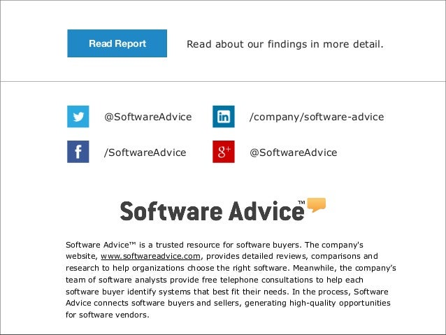 Read Report  Read about our findings in more detail.  @SoftwareAdvice  /company/software-advice  /SoftwareAdvice  @Softwar...