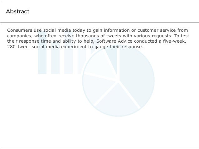 Abstract Consumers use social media today to gain information or customer service from companies, who often receive thousa...