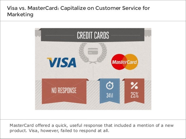 Visa vs. MasterCard: Capitalize on Customer Service for Marketing  MasterCard offered a quick, useful response that includ...