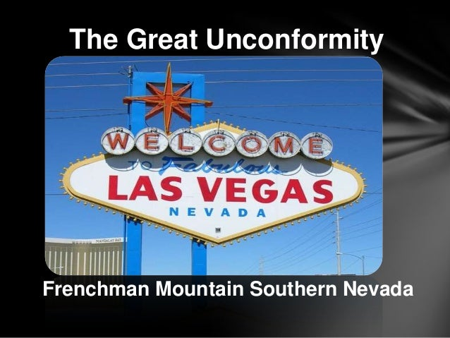 The Great Unconformity Frenchman Mountain Southern Nevada