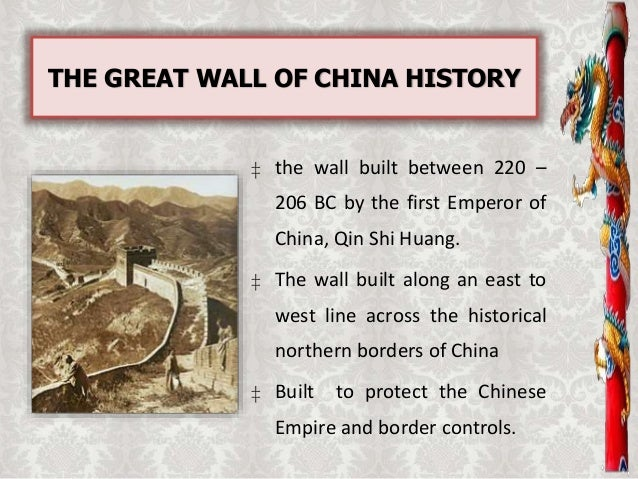 an introduction to the history of great wall of china China's last dynasty was the qing (1644–1912), which was replaced by the republic of china in 1912, and in the mainland by the people's republic of china in 1949, resulting in two de facto states claiming to be the legitimate government of all china.