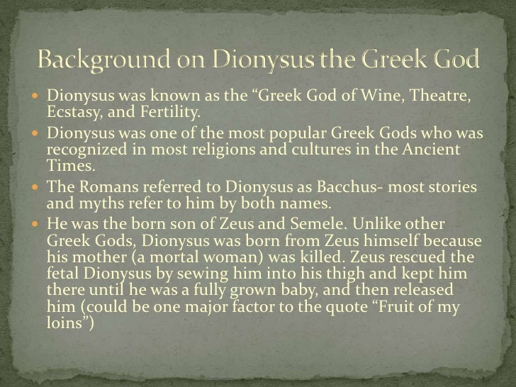 Demystifying popular beliefs about dionysus in the ancient greek mythology